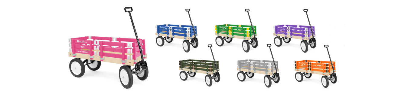 Pink, Blue, Green Wagon Colors